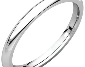 14K Yellow Rose White Gold 2mm Comfort Fit Band Wedding Ring Custom Engraved Personalized CKLIR