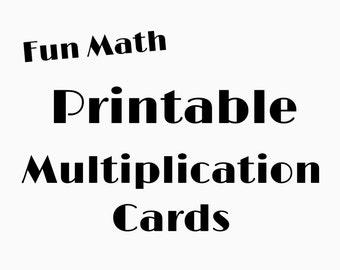 Multiplication Flashcards Multiplication Table Instant Download PDF Digital File