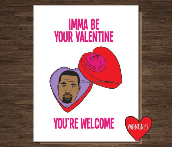 Funny Valentines Card Card for Boyfriend For Husband Kanye – Kanye Valentine Card