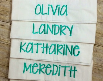 Monogrammed, Personalized Pillowcases for Slumber Parties - Sleepovers - Birthday Party Favors