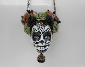 """Saltire skull Barbie head Mexican """"the natural"""""""