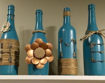 Home wine bottle display