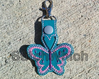 Butterfly Snap Tab/Key Fob