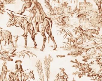 Toile fabric | Etsy : toile quilting fabric - Adamdwight.com