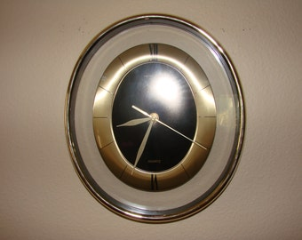 Vintage Quartz Battery Clock Etsy