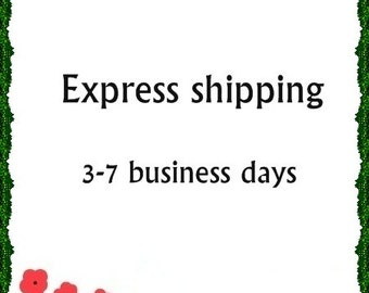 Express shipping 3-7 business days