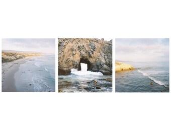 Seaside Prints - Set of 3 - Gallery Art, Fine Art Prints, Beach Wall Art, Boho Prints, Surf Art, Beach Photography, Landscape Photography