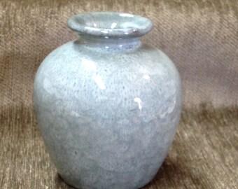 Green Blue Pottery Vase,  Light Blue, Light Green, Pottery Vase