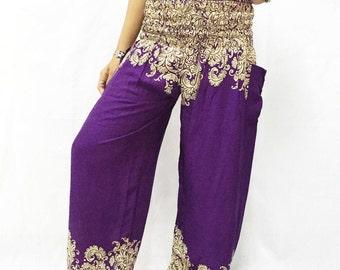 Women Trouser Pants Yoga Pants Aladdin Pants Maxi Pants Baggy Pants Gypsy Pants Rayon Pant Hippy Pants Trouser Green Teal.