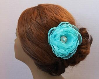 Turquoise Hair Clip Wedding Hair Clip Wedding Hair Accessories Bridal Headpiece