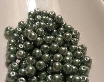 Sage Green Pearl Beads 5mm 106pcs