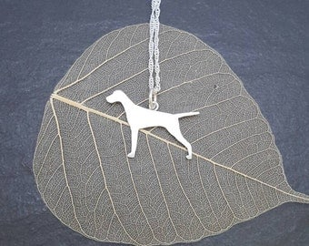 Sterling Silver English Pointer pendant