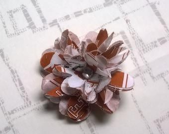 Flower Hair Clip - University of Texas Fabric