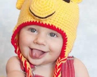 Winnie the Pooh Crochet Kids Hat