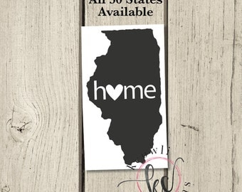 MEDIUM Home State Decal