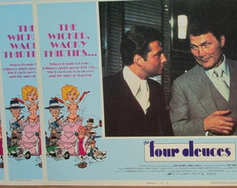 1975 The Four Deuces Lobby Card Set of 8 Movie Posters Lithograph