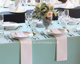 60 x 126 inches Aqua Spa Rectangular Tablecloths, Aqua Spa Rectangle Table Overlays | Wholesale Aqua Spa Table Linens