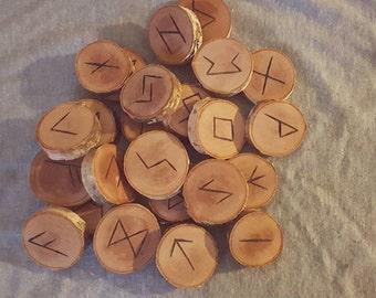 Elder Futhark Rune Set | 24 Hand Burned Pieces