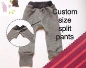 Cotton0-18m EC Discreet split crotch pants/trousers/elimination communication clothing / split crotch trousers /baby