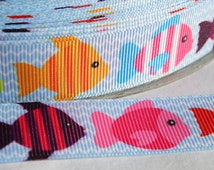 Unique fish ribbon related items etsy for Blue ribbon koi