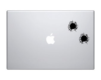 Realistic Bullet Holes, Set of (2) - Di Cut Decal - Home/Laptop/Computer/Phone/Car Bumper Sticker Decal
