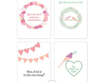 Printable Mini HipHop Love Notes, Instant download, printable, love notes, valentines cards, hiphop