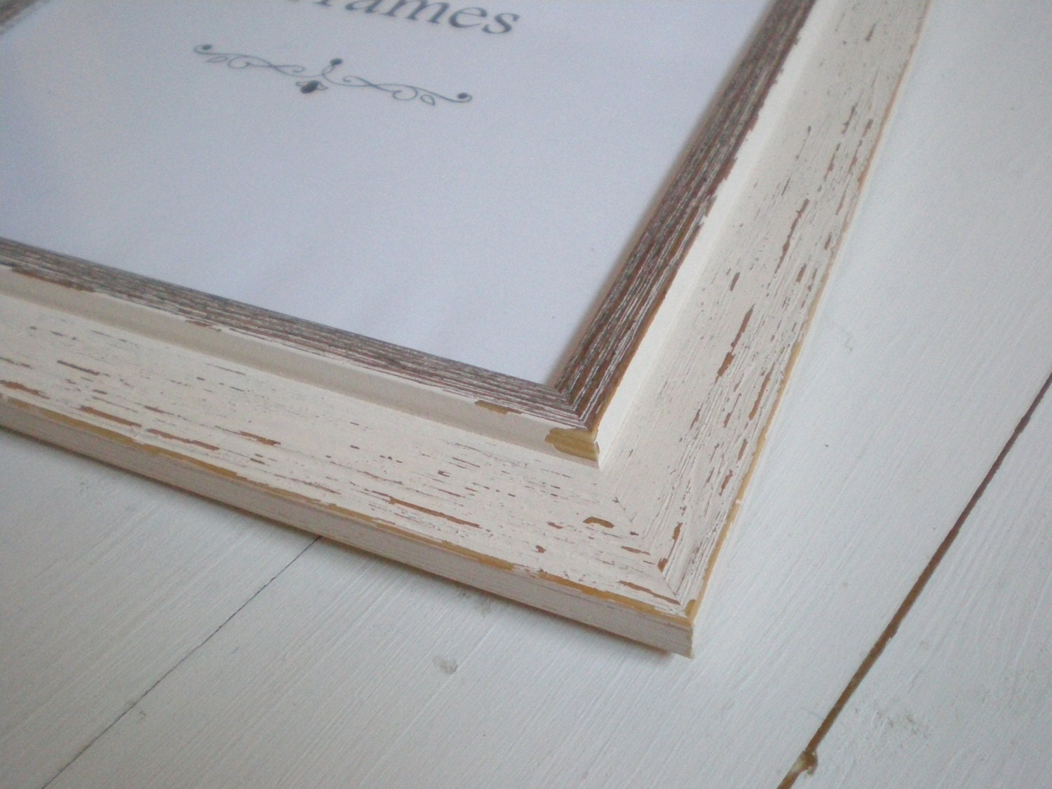 White Picture Frame White Photo Frame 12x12 Wood By