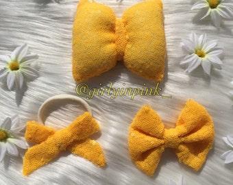 Yellow sunshine bows