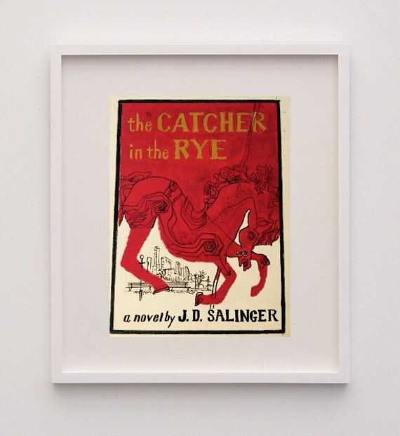 Book Cover Art Etsy : Items similar to catcher in the rye book cover fine art