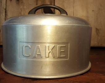 Kromex Cake Cover Aluminum Cake Cover with Bakelite Handle Vintage Cake Cover Cake Pan