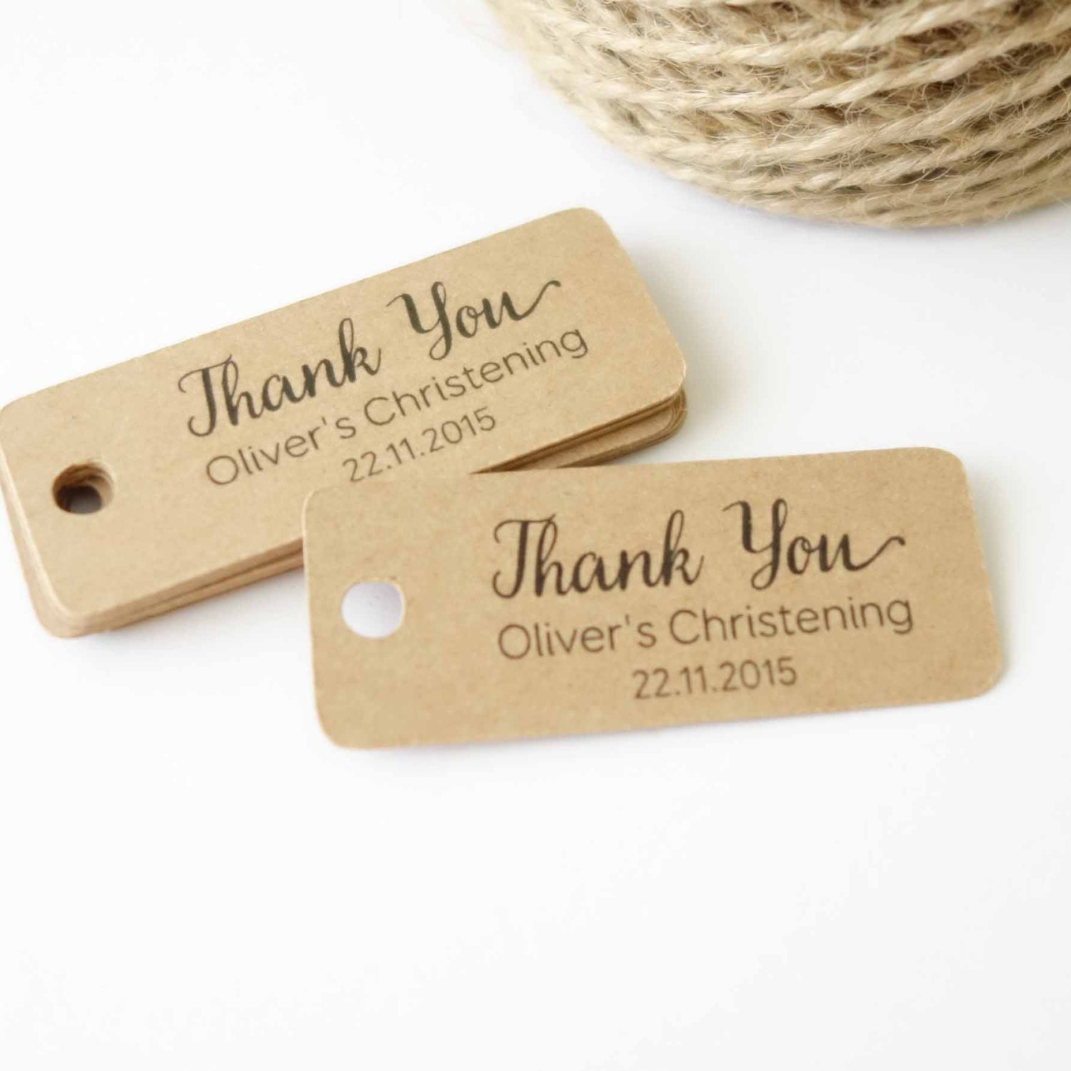 30x Personalised Thank You Tags Wedding Tags by flavourbox