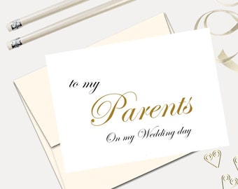 to my parents on my wedding day wedding thank you card to my mother to my father mother of the bride father of the bride