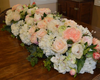 Table Garland, Reception Table Runner, Wedding Table Runners, Reception  Table Decorations, Silk