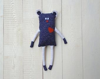 Bear ecofriendly blue gift idea for Valentine's day