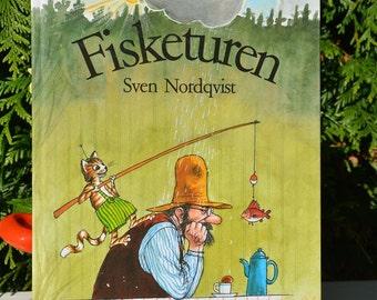 NORWEGIAN Book Fisketuren by Sven Nordqvist Childrens Story Book NORSK Norway