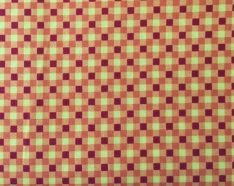 Cutest Critters - Blocky Orange for Avlyn Fabrics by the yard 2721 - 102