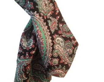 Paisley Silk Women's Scarf / Echarpe Made Expressly for Chipp