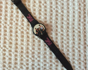 1990 New Kids on the Block Black and Pink Digital Nelsonic Watch