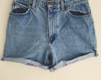 Vintage 1980's High Waisted Denim Shorts