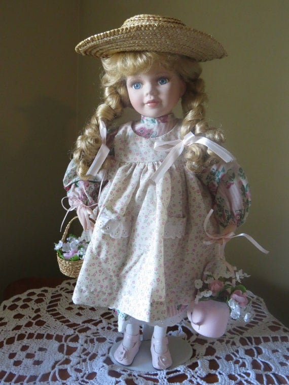 Avon Collectible Doll Avon Porcelain Doll Sarah Rose