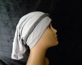 Hair Loss Turban,Chemo Hat,White Turban,Grey Turban,Black and White Turban, Slouch Hat, Fashion Hat, Stretchy Slouch Hat, Multi Colored Hat