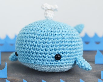 Whale Crochet Pattern. Willy The Whale Crochet Pattern. Whale Amigurumi Crochet. Whale Amigurumi Pattern. Whale PDF Pattern. Ocean Animal.