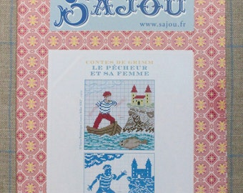 The Fisherman and his wife - Grimm's fairy tale in cross stitch