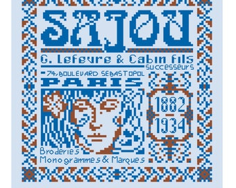 The History of Maison Sajou from 1882 to 1934 in cross stitch