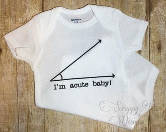 Acute Nerd Baby Onesie, Math Geek Onesie, Baby Onesie, Funny Baby Onesie, Baby Boy, Baby Girl, Baby Shower Gift, Baby Romper, Baby Bodysuit