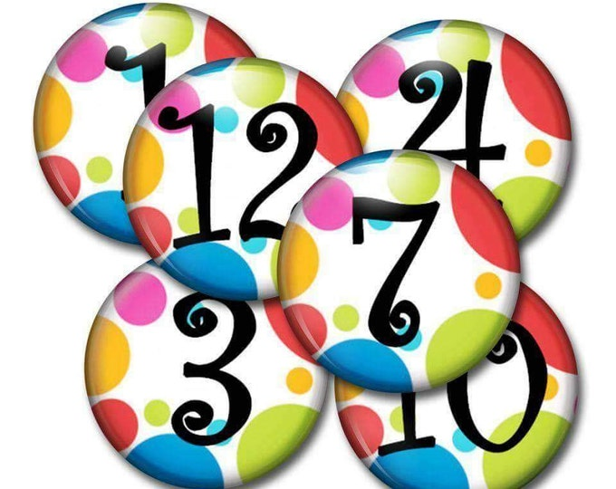Student Number Magnets - Math Magnets - Number Practice - Teachers Gift - Homeschool Family - Preschool Activities - Counting Practice