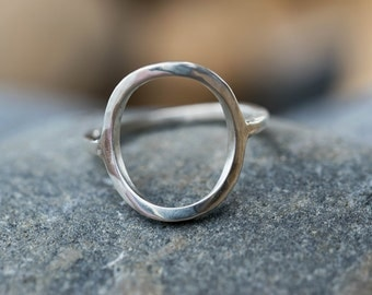 Ethical ring- Infinity ring- Open circle ring- Open ring- Geometric ring- Girlfriend gift- Sterling silver ring- Minimalist ring- Mum gift