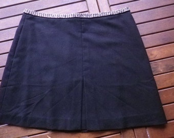 small black skirt H § M, vintage 90, size 46 (US 16)