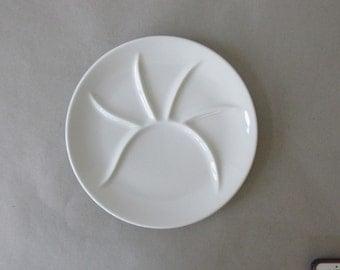 Vintage Pillivuyt France Porcelain Fondue Plate - Culinaire White | white porcelain, French porcelain china | Made in France
