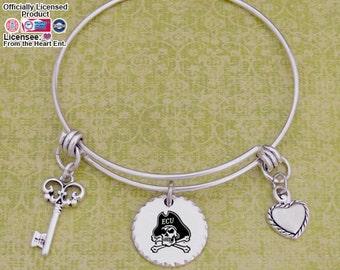 East Carolina Pirates Disk Memory Wire Bracelet